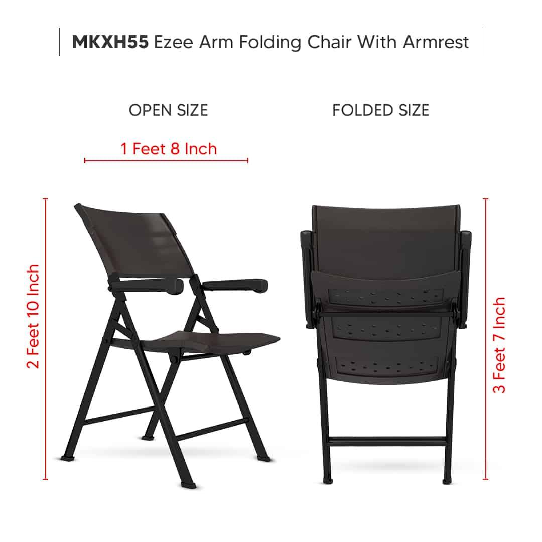 2 7 | EZEE ARM - Folding Chair with Armrest | WonderPlast